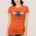 Vintage Worker Bee Illustration T-Shirt