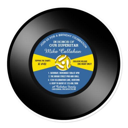 Custom Record Invitations