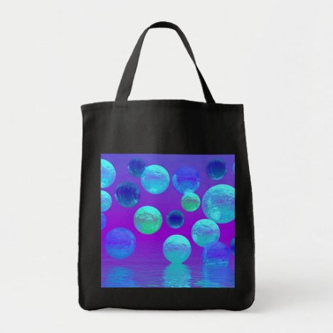 Violet Mist - Cyan and Purple Abstract Light Tote Bag