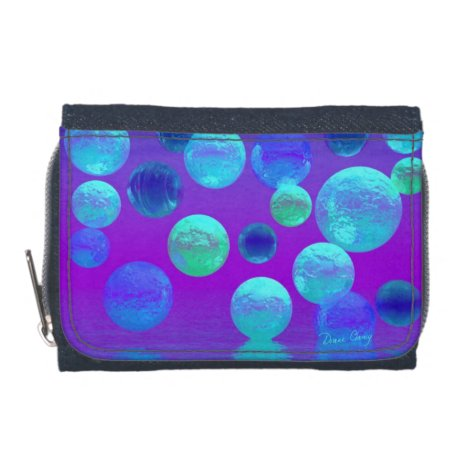 Violet Mist, Cyan and Purple Abstract Light Wallet
