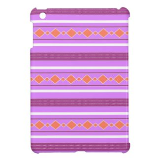 Violet orange artistic stripes case for the iPad mini
