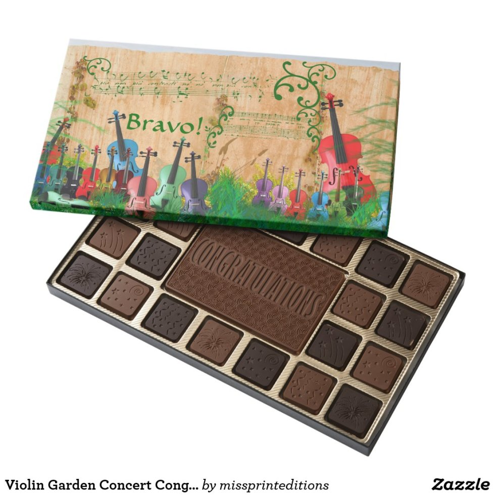 Violin Garden Concert Congratulations Assorted Chocolates
