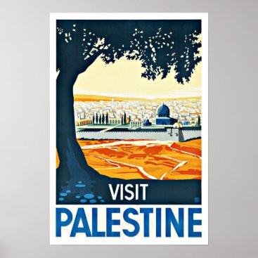 Visit Palestine Vintage Travel Poster