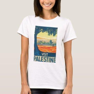 Visit Palestine Vintage Travel Poster T-Shirt