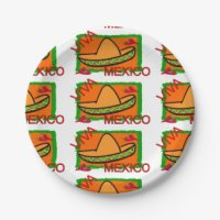 Mexican Sombrero Plates | Zazzle