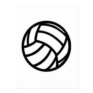 Volleyball Logo Postcards & Postcard Template Designs