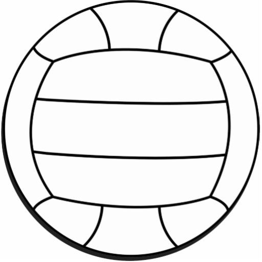 Volleyball Wall Sculpture Cut Out