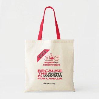 Vote ABC hand bag bag