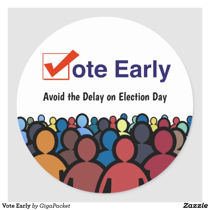 Vote Early Classic Round Sticker