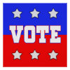 Vote with Stars Poster