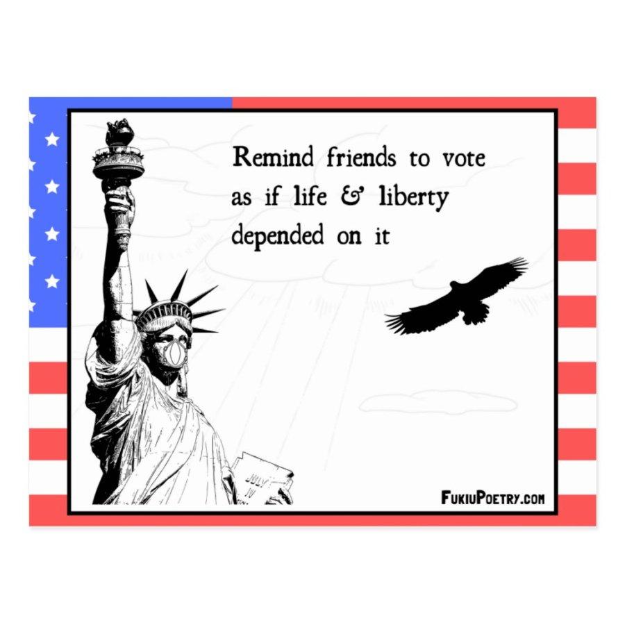 Voting Reminder Postcard USA 2020