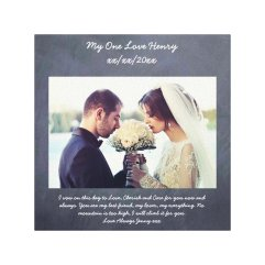 Vow renewal gift personalized chalkboard