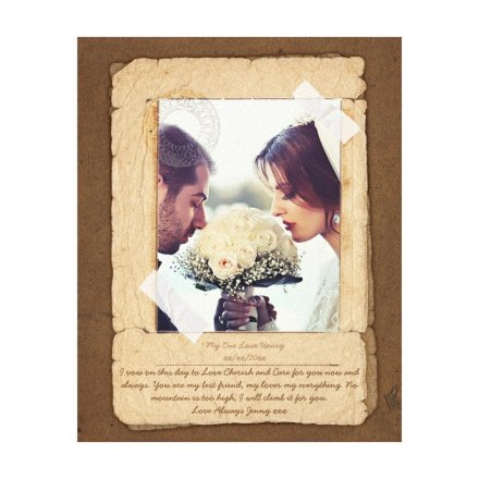 Vow Renewal Gift personalized rustic