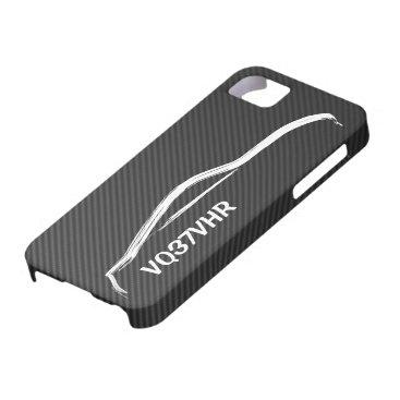 """""""VQ37VHR"""" 370z w/ Faux Carbon Fiber iPhone SE/5/5s Case"""