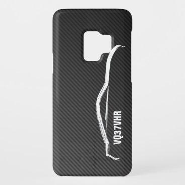 """VQ37VHR"" 370z w/ Faux Carbon Fiber Case-Mate Samsung Galaxy S9 Case"