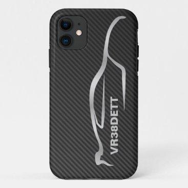 """""""VR38DETT"""" Skyline GT-R Gray Silhouette Logo iPhone 11 Case"""