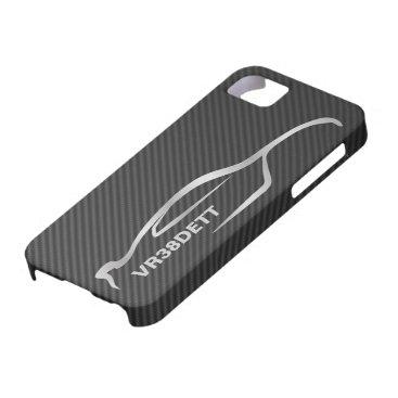 """""""VR38DETT"""" Skyline GT-R Gray Silhouette Logo iPhone SE/5/5s Case"""