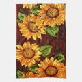 Wacky sunflowers kitchen towel