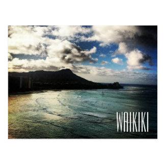 Waikiki Beach Sunrise Diamond Head Hawaii Postcard