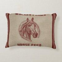 Feed Sack Pillows - Decorative & Throw Pillows | Zazzle