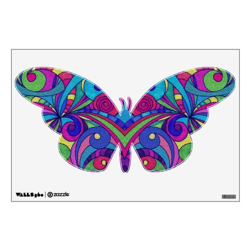 Wall Decal Floral abstract