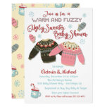War and Fuzzy Ugly Sweater Baby Shower Invitation