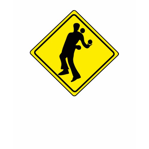 WARNING JUGGLER ROAD SIGN shirt