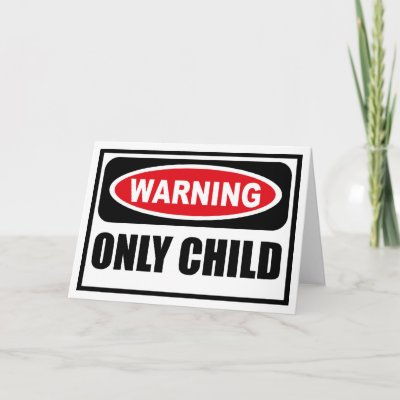 only child card