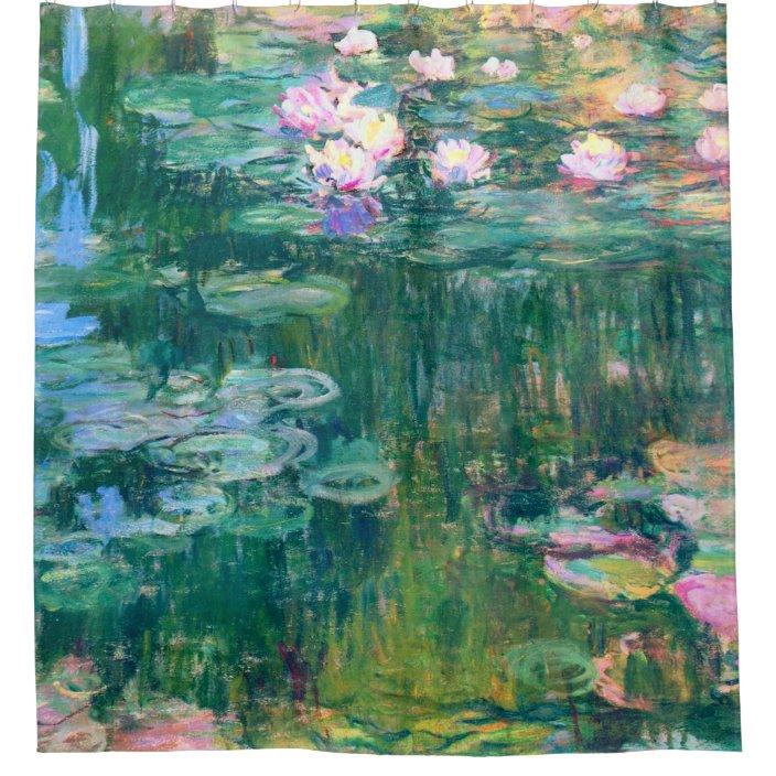 water lilies claude monet fine art shower curtain zazzle com