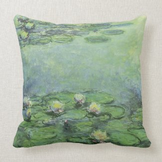 Water Lily Pond in Pastel American MoJo Pillows mojo_throwpillow