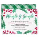 Watercolor Berries Mingle & Jingle Holiday Party Invitation