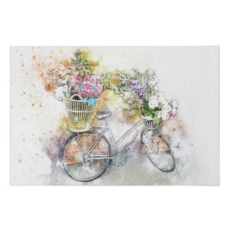 Watercolor Bicycle Faux Canvas Wall Art Home Decor