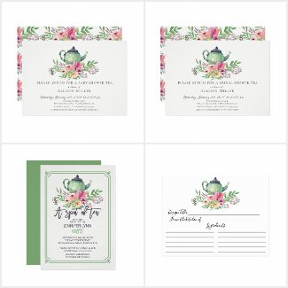 Watercolor Floral Tea Bridal Shower