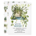 Watercolor House Plants Moving Announcement
