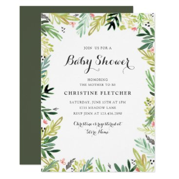 Watercolor Meadow Baby Shower Invitation
