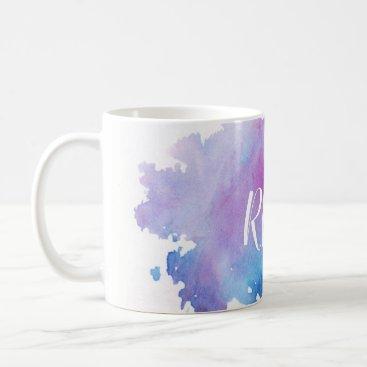 Watercolor Monogram Mug