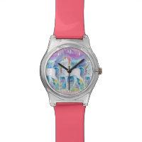 Watercolor Unicorns Watch