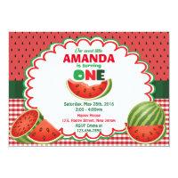 Watermelon 1st Birthday Invitation