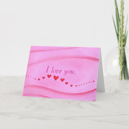 Wave of Red Hearts, I love you Card