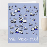 ❤️ we miss you summer vacation cartoon mosquitoes card