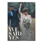 WE SAID YES | White Overlay Reception Only 2 Photo Invitation