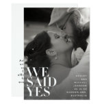 We Said Yes White Overlay Wedding Announcement