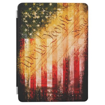 WE THE PEOPLE Vintage Retro Rock American Flag iPad Air Cover