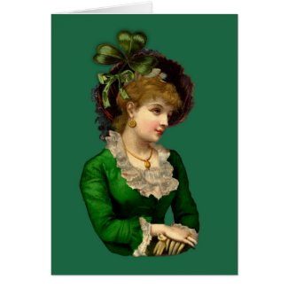 Wearing the Green on St Patrick's Day Greeting Card