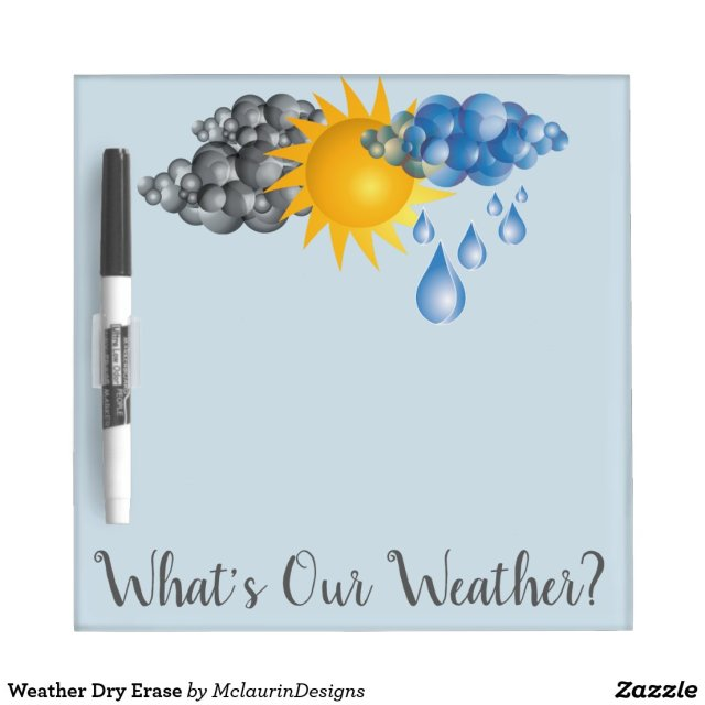 Weather Dry Erase Dry Erase Board
