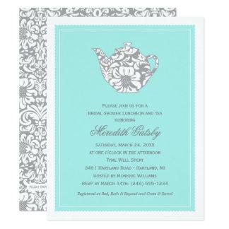 Wedding Bridal Shower Invitation High Tea Theme