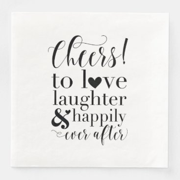 Wedding & Bridal Shower Napkins - Cheers to Love