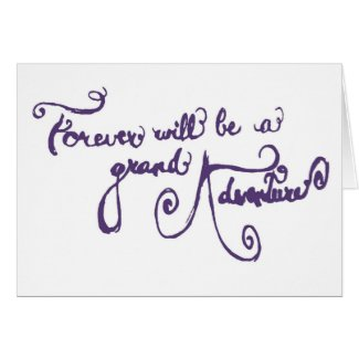 Wedding Card - A Grand Adventure (purple)
