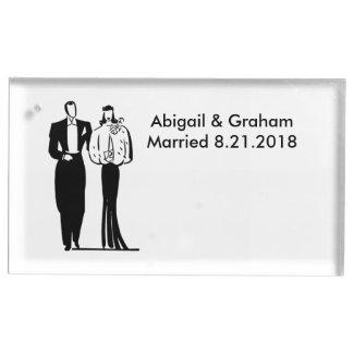 Wedding Couple Table Card Holder