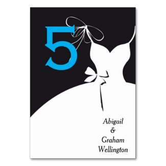 Wedding Dress Table Number Card Table Cards